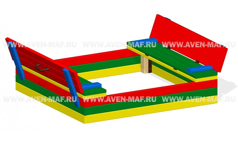 Песочница с крышкой-скамейкой П-21