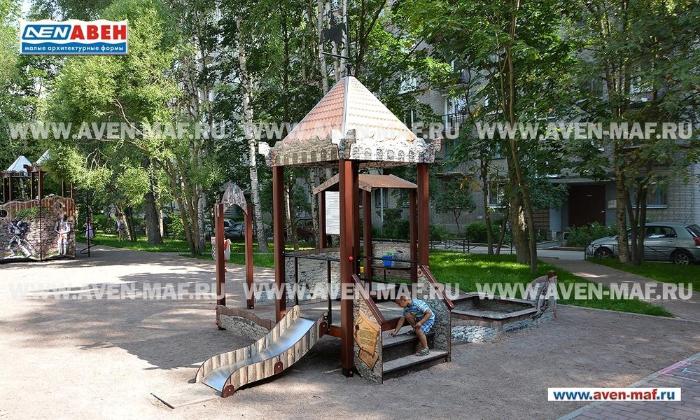 """Песочный дворик с горкой ПЕ-50 н """"Старый город"""""""