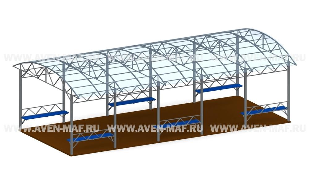 Терраса с крышей ПТ-02