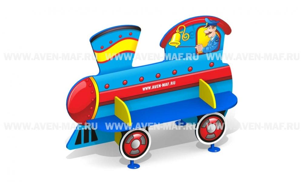 """Скамейка детская С-166 """"Паровоз"""" двухсторонняя"""