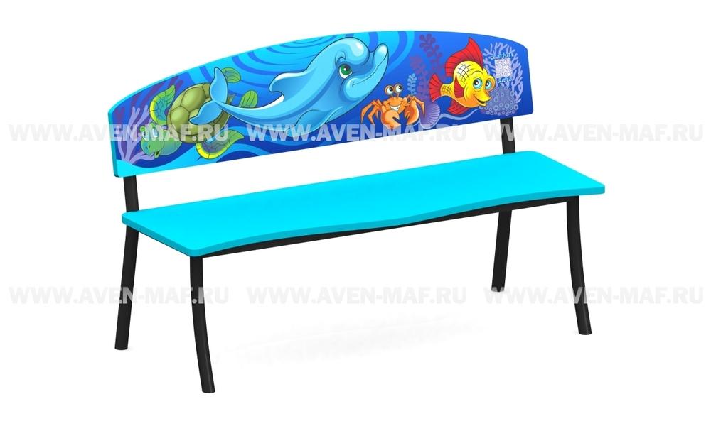 """Детская скамейка С-167/1 """"Дельфин"""""""
