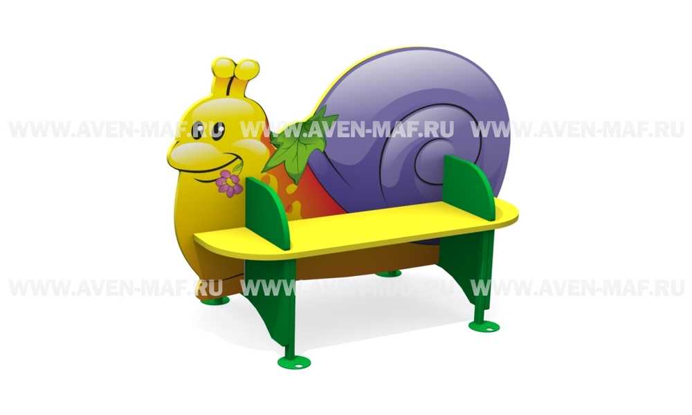 """Детская скамейка С-170/2 """"Улитка"""" двухсторонняя"""