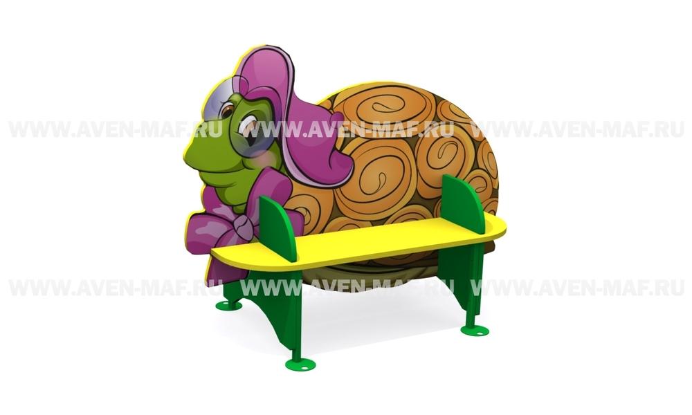 """Детская скамейка С-170/3 """"Черепаха"""" двухсторонняя"""