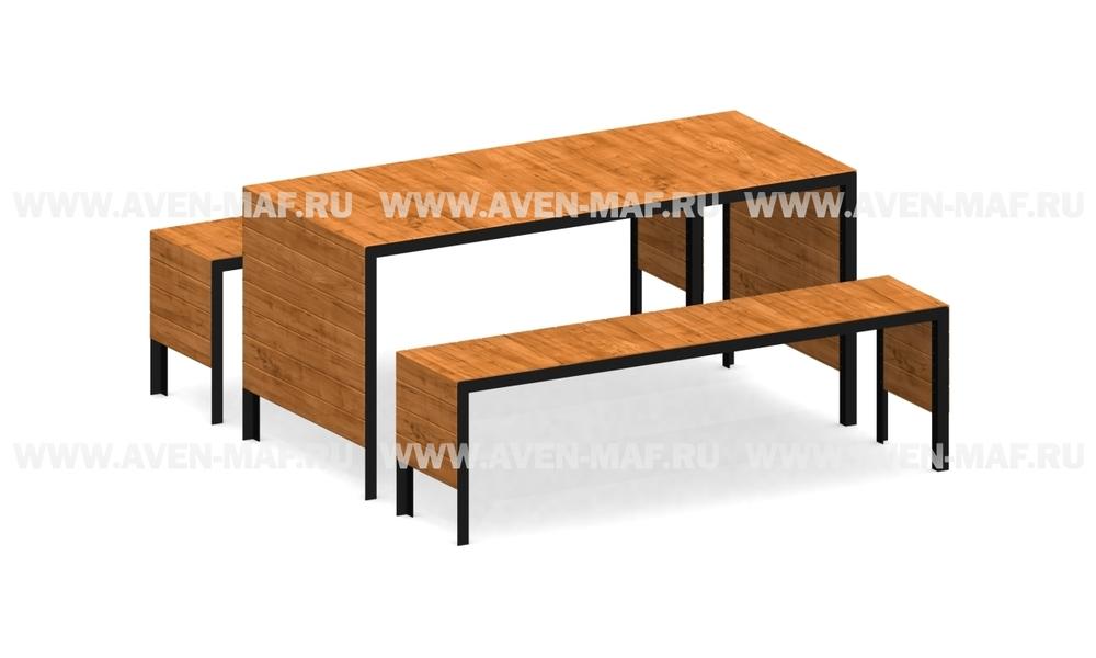 Стол со скамейками СТ-15