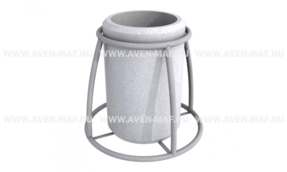 Бетонная урна для мусора У-200