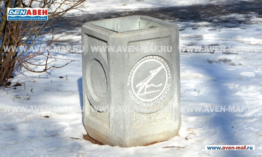 Бетонная урна для мусора У-108
