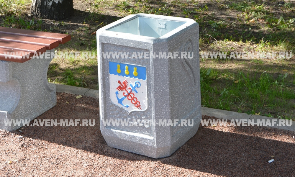 Бетонная урна для мусора У-119