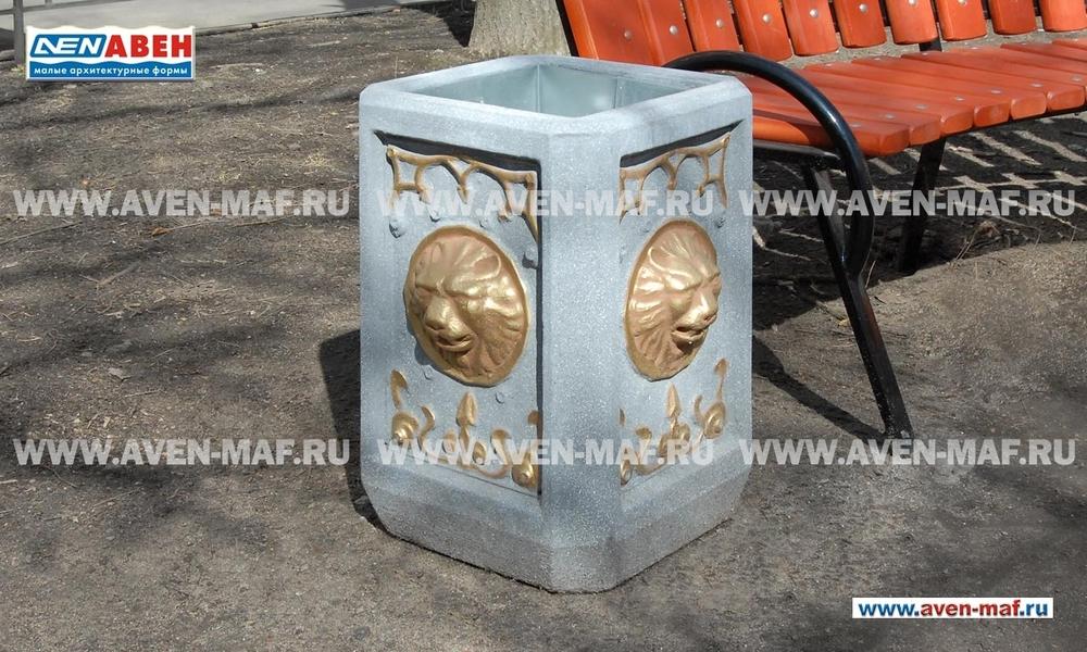 Бетонная урна для мусора У-160 художественная