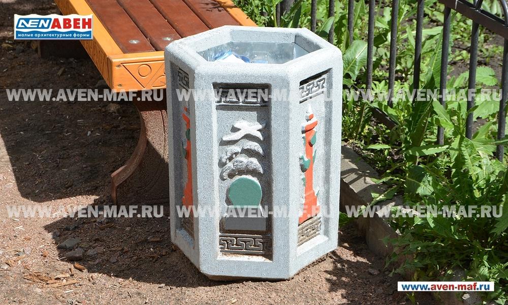 Бетонная урна для мусора У-161
