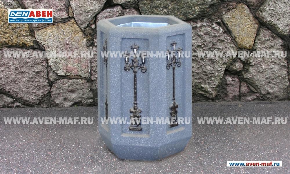 Бетонная урна для мусора У-162 художественная