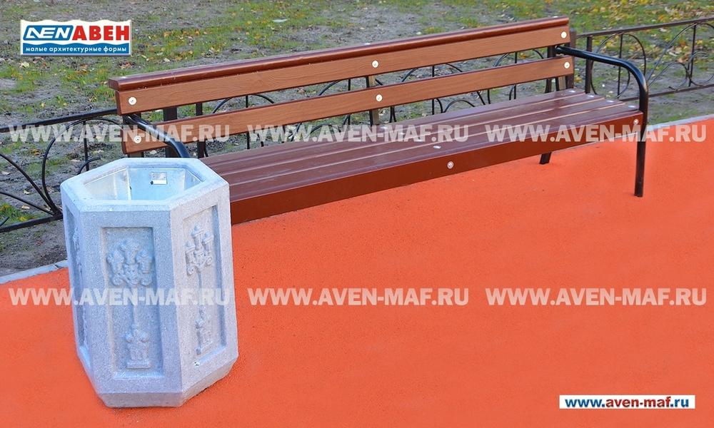 Бетонная урна для мусора У-162