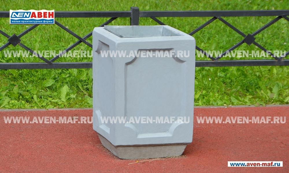 Бетонная урна для мусора У-188