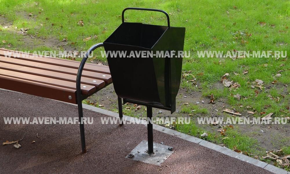 Металлическая урна для мусора У-3