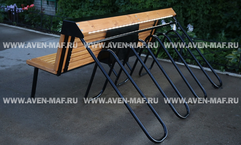 Скамья-велопарковка двухсторонняя ВП-7