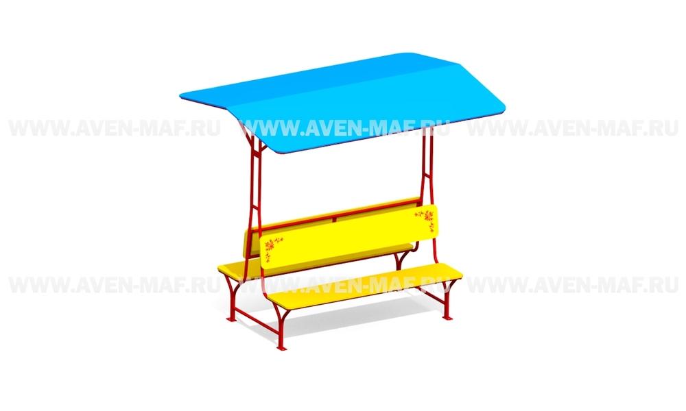 Детский столик с зонтиком З-7