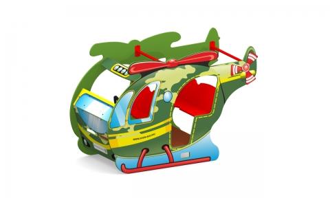 """Игровой элемент для детской площадки Д-18 """"Вертолет военный"""""""