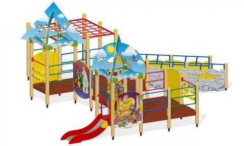 """Игровой комплекс для детей с ограниченными возможностями Г-402 """"Мюнхгаузен"""""""