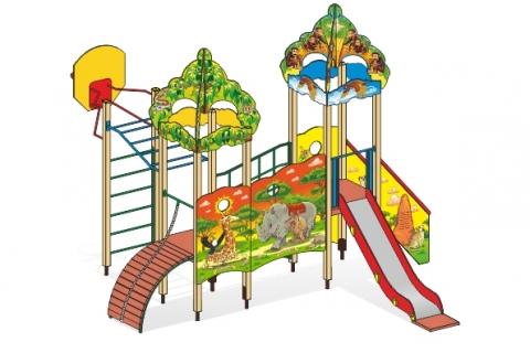 """Детский городок Г-5 """"Сказка Африка"""" для детской площадки"""