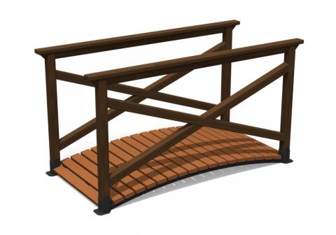 Деревянный мостик М-1