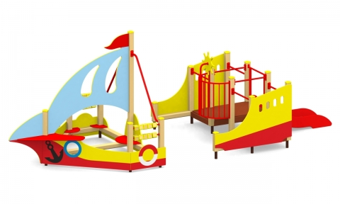 """Игровой комплекс для детской площадки МГМ-79 """"Кораблик"""""""