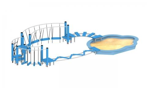 Песочница с полосой препятствий МПП-6