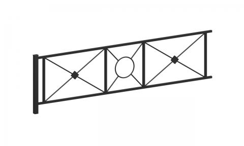 Ограждение металлическое О-318