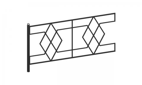 Ограждение металлическое О-350