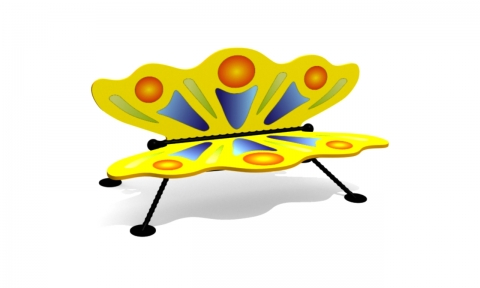 """Детская скамейка С-160 """"Бабочка"""""""