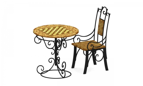 Стол шахматный со стулом С-60