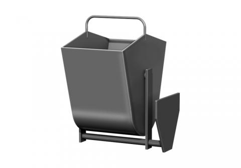 Металлическая урна для мусора У-5