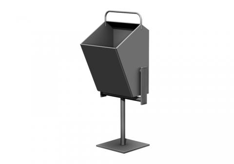 Металлическая урна для мусора У-9
