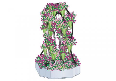 Вазон - комплекс для цветов ВК-115
