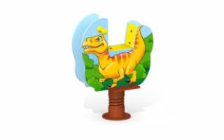 """Качалка на пружине МК-21 (154) """"Динозавр"""""""