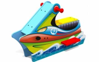 """Игровой элемент для детской площадки Д-7 """"Скутер"""""""