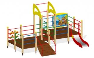 Игровой комплекс для детей с ограниченными возможностями Г-401/2иченными возможностями Г-401/2