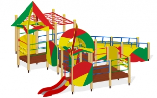 """Игровой комплекс для детей с ограниченными возможностями Г-402 """"Сити C"""""""