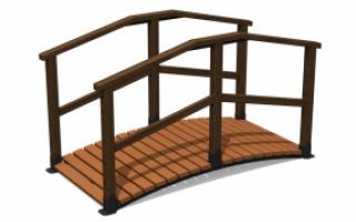 Деревянный мостик М-2