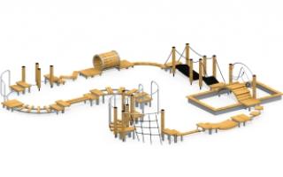 Модульная полоса препятствий с песочницей МПП-1