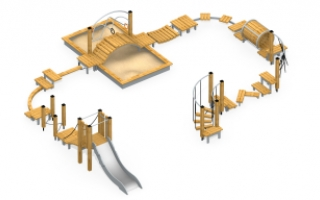 Модульная полоса препятствий с песочницей МПП-2