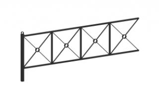 Ограждение металлическое О-314