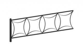 Ограждение металлическое О-319