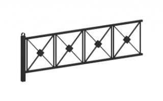 Ограждение металлическое О-327