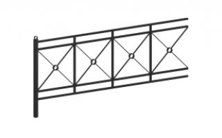 Ограждение металлическое О-351
