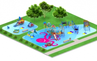 """Детские площадки в стиле """"Подводный мир"""""""
