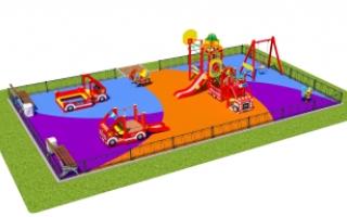 """Детские площадки в стиле """"Пожарные"""""""