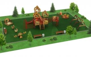 "Детские площадки в стиле ""Русич"""