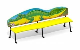 """Детская скамейка С-167/2 """"Крокодил"""""""