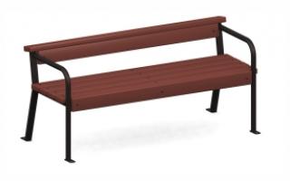 Скамейка с металлическими ножками С-2