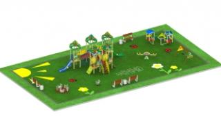 """Детские площадки в стиле """"Лесные звери"""""""