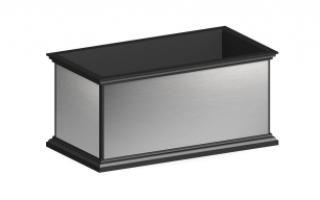 Вазон металлический с зеркальной поверхностью В-95